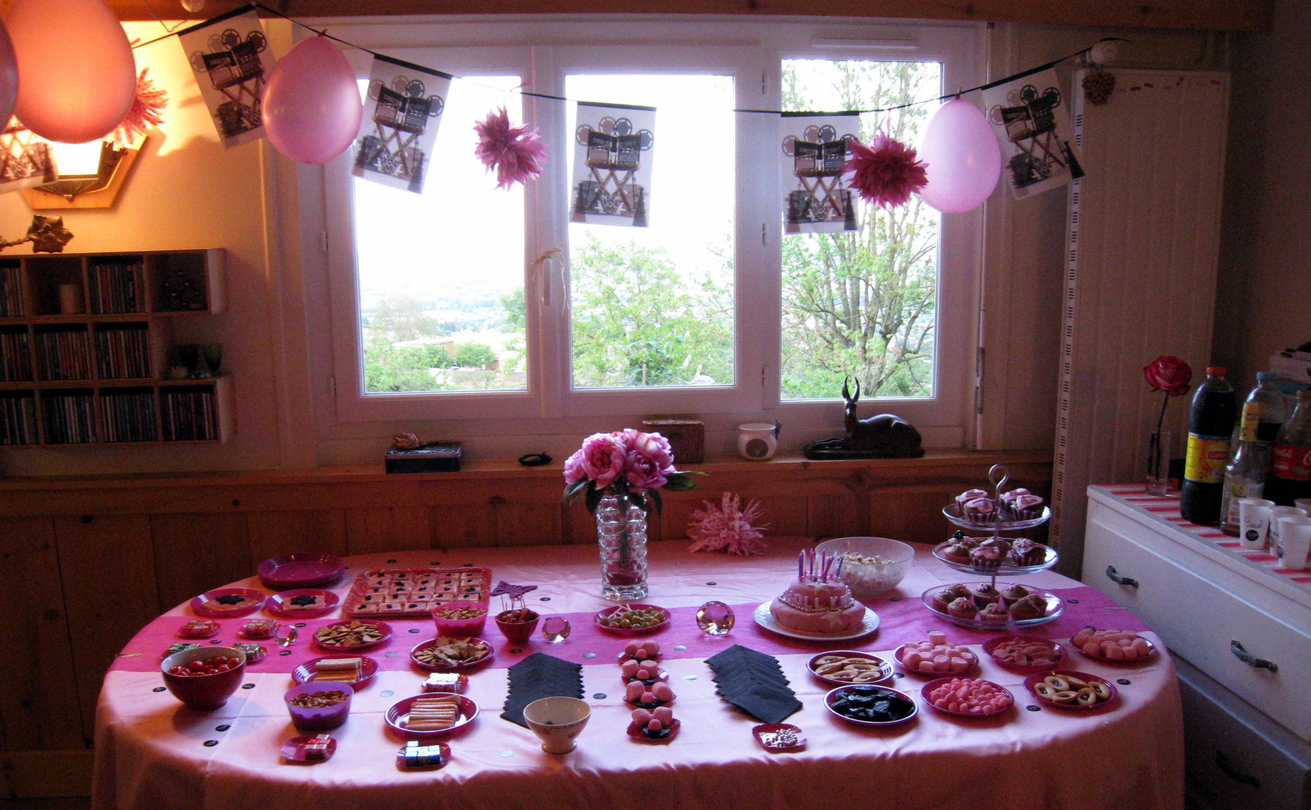 Sweet table rose et noire marie maguelone - Chemin de table rose pale ...