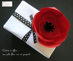 DIY, fleur rouge et noire