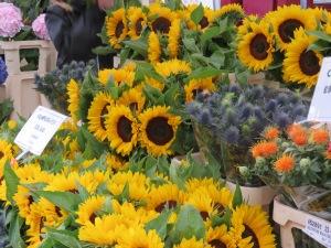 Tournesols au marché aux fleurs de Londres